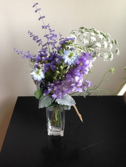 Nigella, Dusty Miller, Queen Anne's Lace, Russian Sage, Larkspur