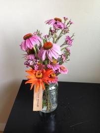 Echinaecea, Statice, Waxflower, Zinnia
