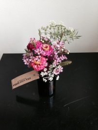Queen Anne's Lace, Waxflower, Zinnia, Amaranthus